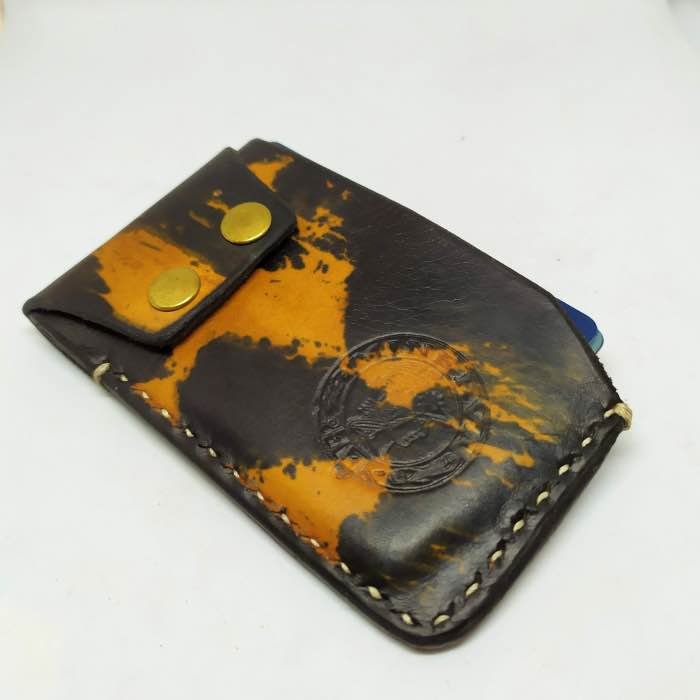 Card Holder Nº1 Camel and Black