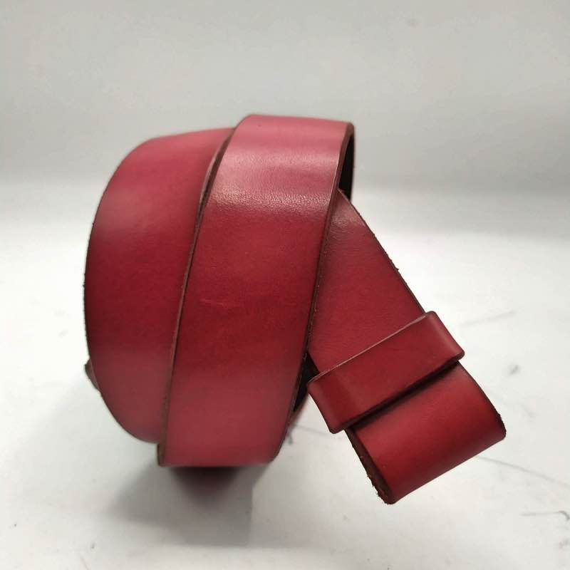 Belt/ Cinturon nº6 in Deep Crimson Red.