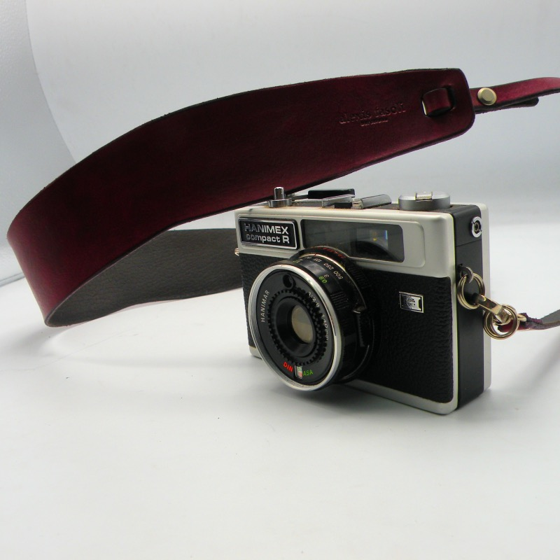 Luxury leather camera strap