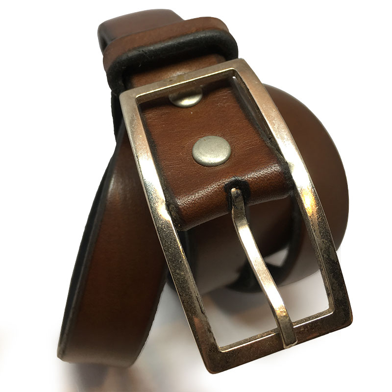 Brown Spanish Calfskin Belt IV with Vintage Buckle