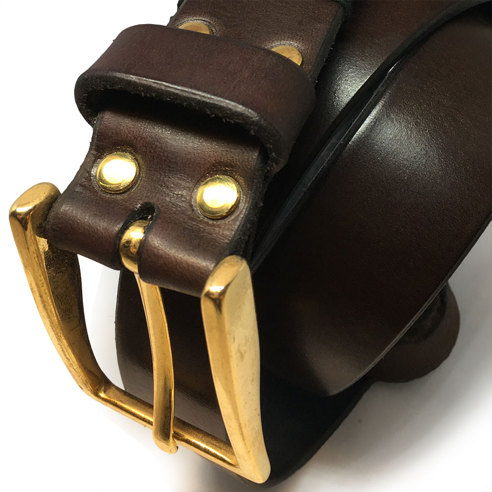 Brown Spanish Calfskin Belt II with Vintage Buckle