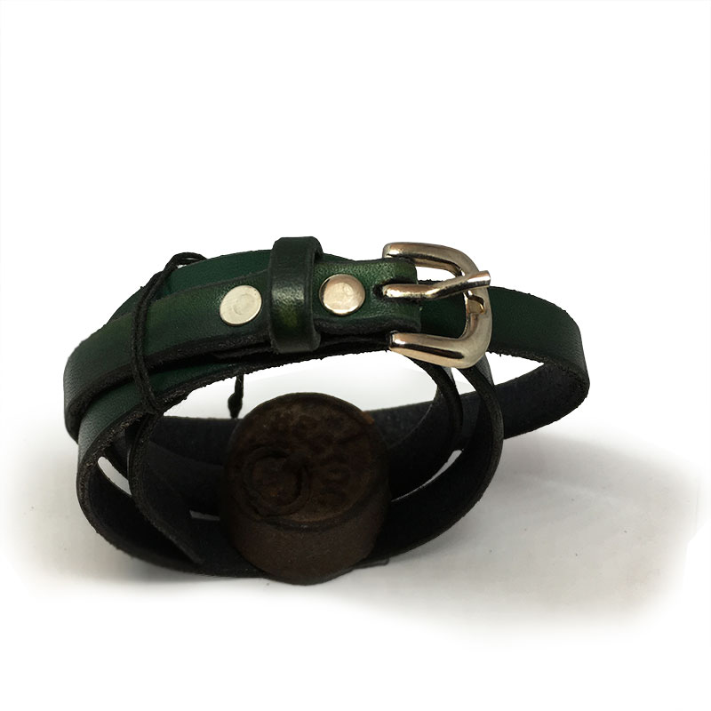 Classic dark green kids belt
