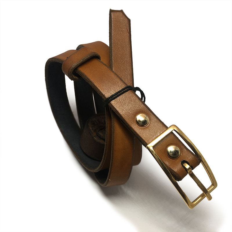 Tan Kids Belt with Vintage Buckle