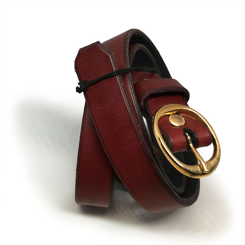 Burgundy red kids belt