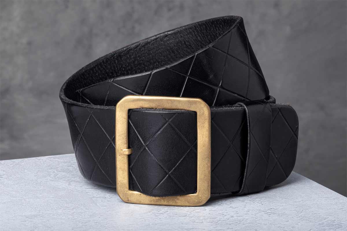 AF Buckle Nº15 with black leather belt strap