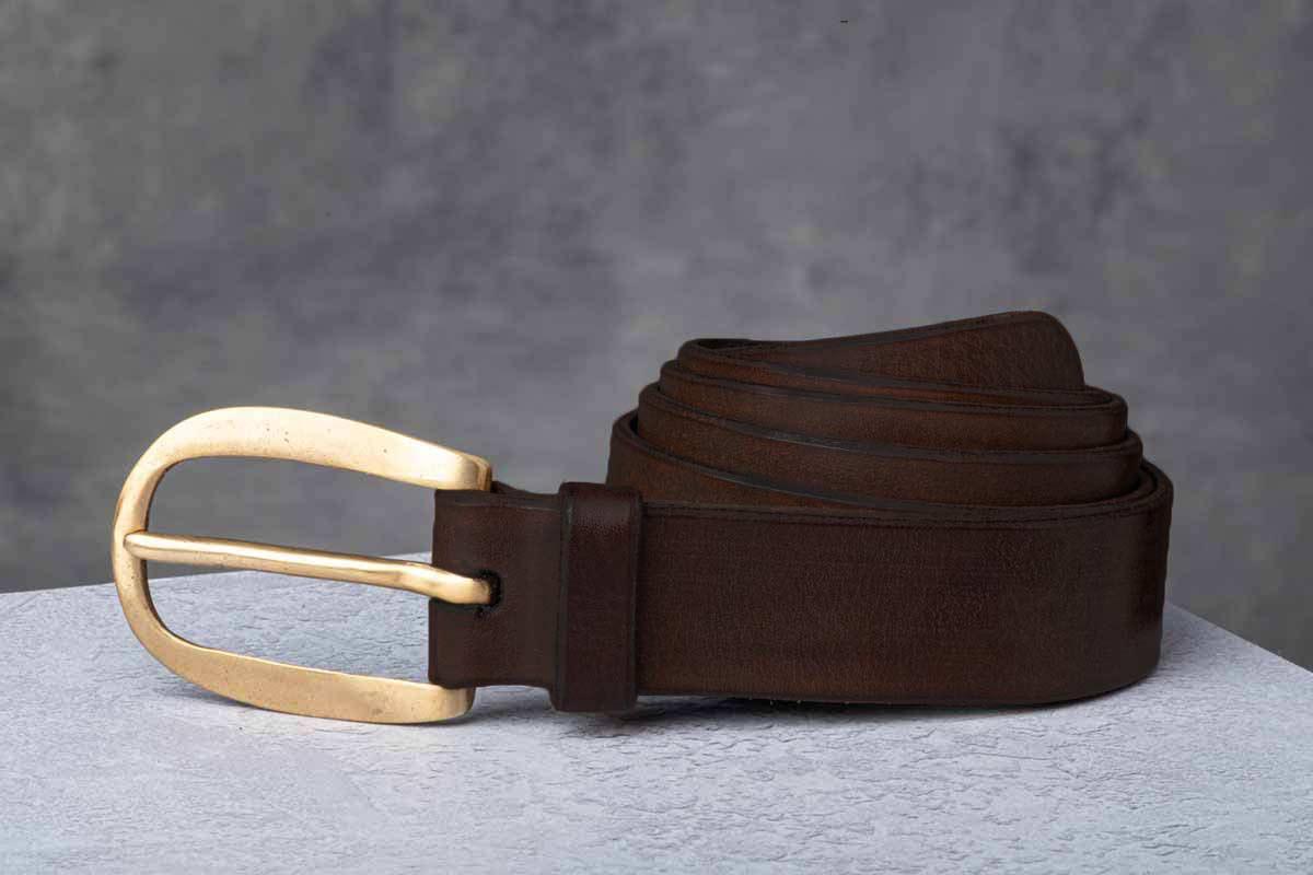 AF Buckle Nº16 + brown leather belt strap