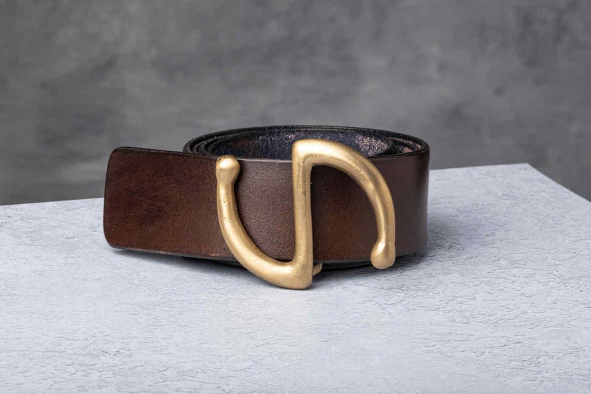 AF Buckle Nº4 + fine leather belt strap