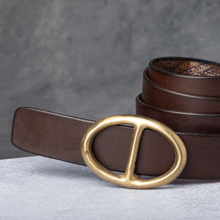 AF Buckle Nº5 + fine leather belt strap